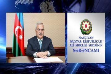 Naxçıvan Ali Məclisinin İqtisadiyyat şöbəsinə müdir təyin edilib