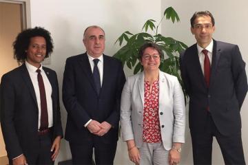 Elmar Məmmədyarov Fransa Milli Assambleyasının vitse-prezidenti ilə görüşüb