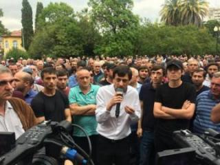 Протесты оппозиции в Абхазии
