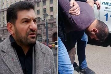 В Баку перед посольством РФ прошла акция протеста против задержания Фуада Аббасова