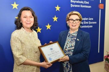 Akademik Taliya Xabrieva AMEA İnsan Hüquqları İnstitutunun akademikləri ilə görüşüb