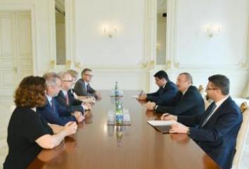 President Ilham Aliyev receives a delegation of German Bundestag
