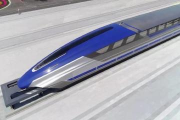 """Китайский """"магнитный"""" поезд разогнался до 600 км/ч"""