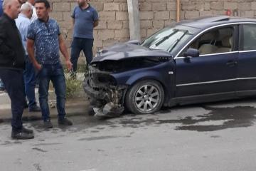 Bakının Sabunçu rayonunda iki avtomobil toqquşub, yaralılar var - [color=red]FOTO[/color]