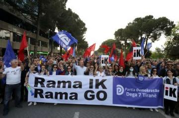 Albanian opposition rally renews call for PM to quit