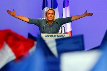 Во Франции партия Ле Пен получает большинство голосов на выборах в ЕП