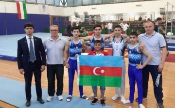 Azərbaycan gimnastları Budapeştdə 6 medal qazanıb