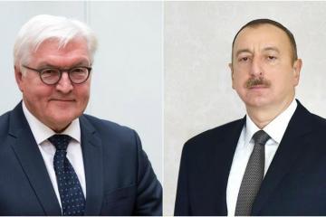 Президент Германии поздравил президента Ильхама Алиева