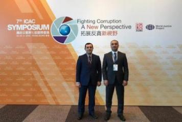 Korrupsiyaya qarşı Mübarizə Baş İdarəsinin nümayəndələri beynəlxalq simpoziumda iştirak edib