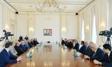 Azerbaijani President receives UEFA delegation