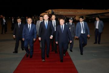 President of Poland Andrzej Duda arrives in Azerbaijan for official visit
