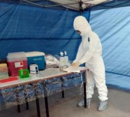 Mobile sanitary-epidemiological team held tactical-special training