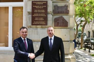 В Баку состоялось открытие мемориальных досок в честь польских архитекторов