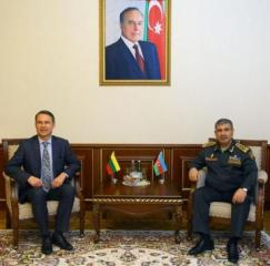 Azerbaijan Minister of Defense meets with new Lithuanian Ambassador to Azerbaijan