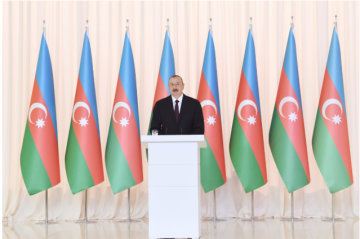 Azerbaijani President shared a video on the occasion of National Flag Day