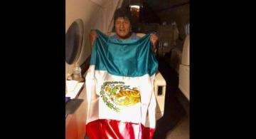 Former Bolivian president Evo Morales arrives in Mexico