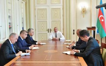 Prezident İlham Əliyev yeni təyin olunan icra başçılarını qəbul edib