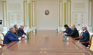 President Ilham Aliyev receives deputy chairman and committee chair of Russian Federation