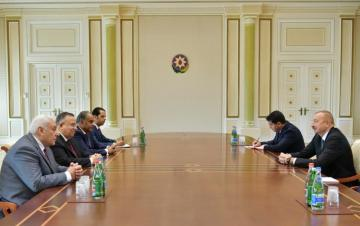 President Ilham Aliyev receives delegation led by first deputy speaker of House of Representatives of Egypt