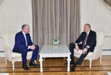 Prezident İlham Əliyev Rusiyanın Qaraçay-Çərkəz Respublikasının başçısını qəbul edib