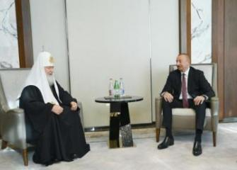 Azerbaijani President meets with Patriarch of Moscow and all of Russia Kirill