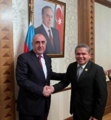 Elmar Mammadyarov met with Jose Luis Perez, Chairman of the Foreign Affairs Commission of the Senate of the Republic of Colombia