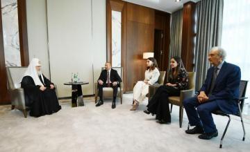 Azərbaycan Prezidenti Moskvanın və Bütün Rusiyanın Patriarxı ilə görüşüb