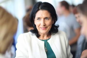 "Salome Zurabishvili: ""Azerbaijani and Georgian nations are bound by close friendship relations"""