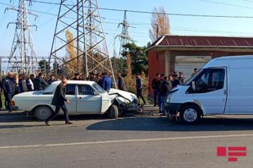 Xaçmazda iki avtomobil toqquşub, bir nəfər ölüb - [color=red]FOTO[/color]