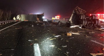 Nearly 20 people injured in bus-tractor trailer collision in Virginia