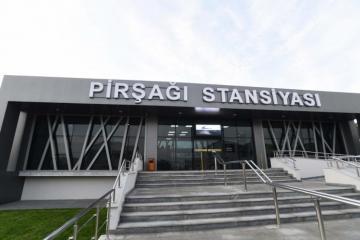 Президент Ильхам Алиев принял участие в открытии железнодорожной станции Пиршаги