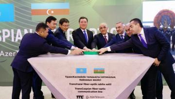 Azərbaycanla Qazaxıstanı birləşdirəcək TransXəzər optik magistralının tikintisinə başlanılıb