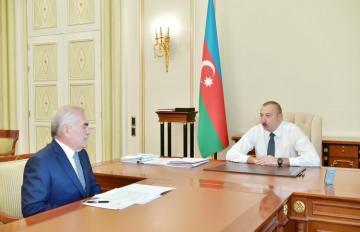 President Ilham Aliyev receives Vasif Talibov