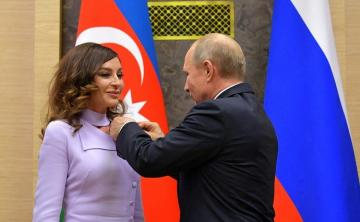 Putin awarded First Vice President of Azerbaijan Order of Friendship