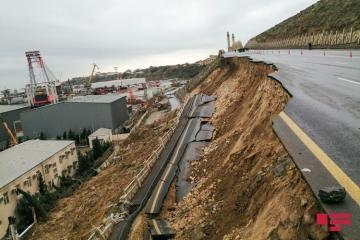 Prime Minister Ali Asadov visited scene of landslide in Bibiheybat
