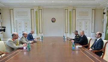 President Ilham Aliyev receives delegation led by chairman of NATO Military Committee