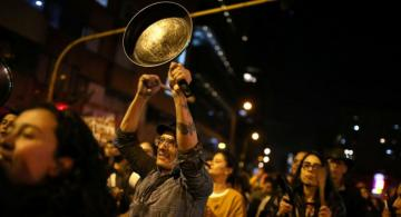 Mass demonstrations against government enter seventh day in Bogota