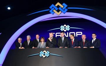 Opening ceremony of TANAP-Europe connection kicks off in Turkey's Edirne province