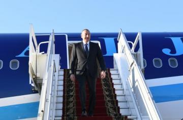 Azərbaycan Prezidenti Rusiyaya işgüzar səfərə gedib