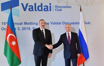 Azerbaijani and Russian Presidents met in Sochi