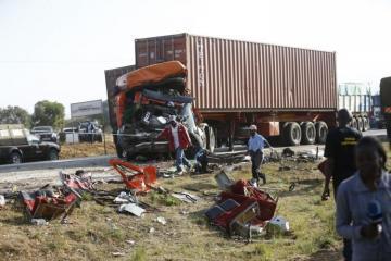 12 killed in bus-truck collision in western Kenya