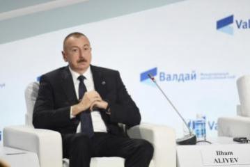 Президент Ильхам Алиев принял участие в сессии XVI заседания Международного дискуссионного клуба «Валдай»