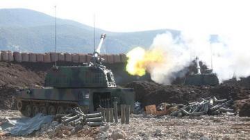 Турецкая артиллерия обстреляла позиции курдов в Сирии