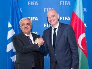 Ровнаг Абдуллаев встретился с президентом ФИФА