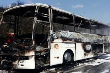 Bus, carrying Azerbaijanis to Karbala pilgrimage, caught fire