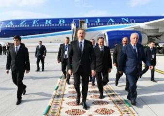 President Ilham Aliyev leaves for Turkmenistan to attend the meeting of Council of CIS Heads of State