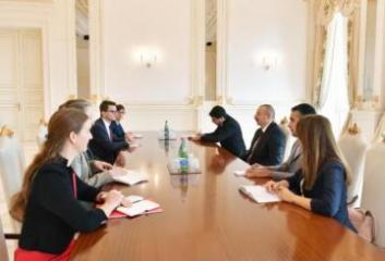 Prezident İlham Əliyev Avstriyanın Nəqliyyat, İnnovasiya və Texnologiya nazirini qəbul edib