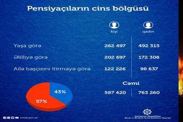 Обнародовано число получающих в Азербайджане пенсию мужчин и женщин