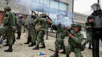 Военные запретили передвижение по Эквадору