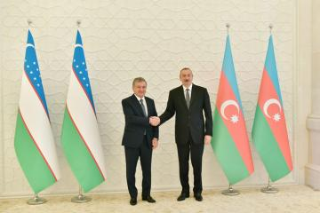 Azerbaijani and Uzbekistan Presidents meet